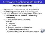 1 economic development wc context