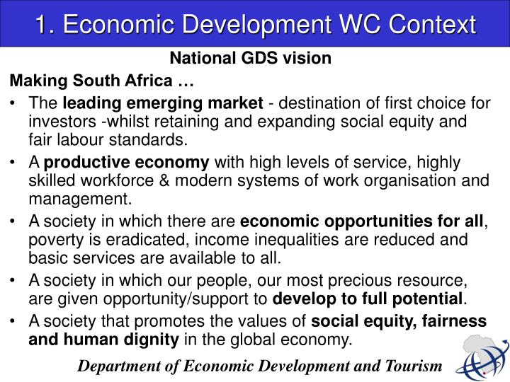 1. Economic Development WC Context