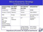 micro economic strategy integrated action plan