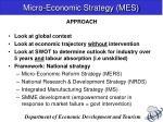 micro economic strategy mes1