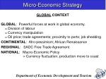 micro economic strategy1