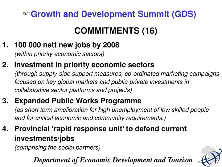 Growth and Development Summit (GDS)