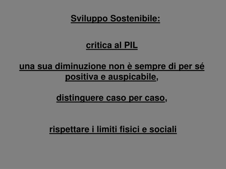 Sviluppo Sostenibile: