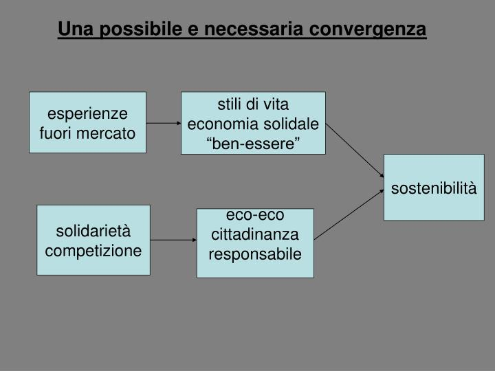 Una possibile e necessaria convergenza