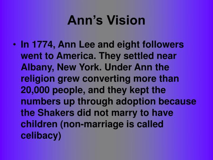 Ann's Vision