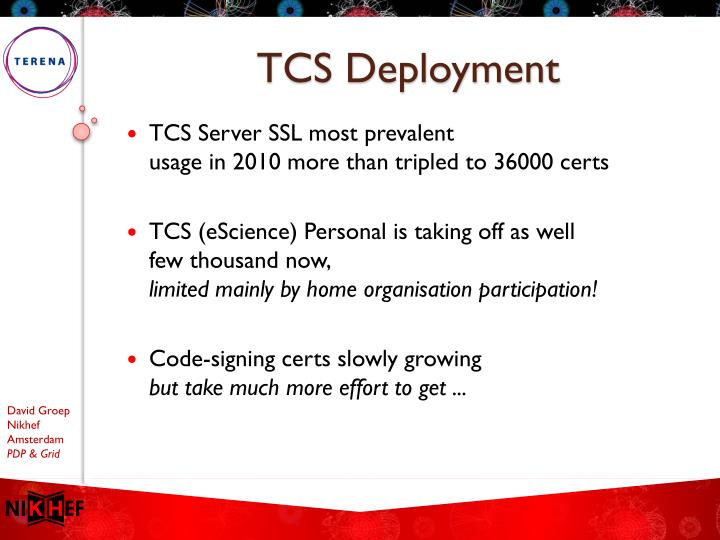 TCS Deployment
