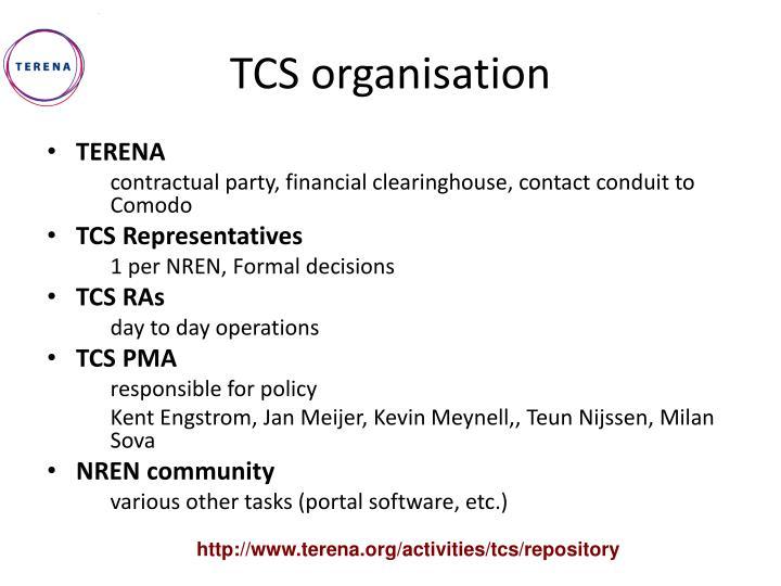 TCS organisation