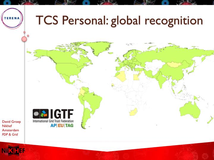 TCS Personal: global recognition