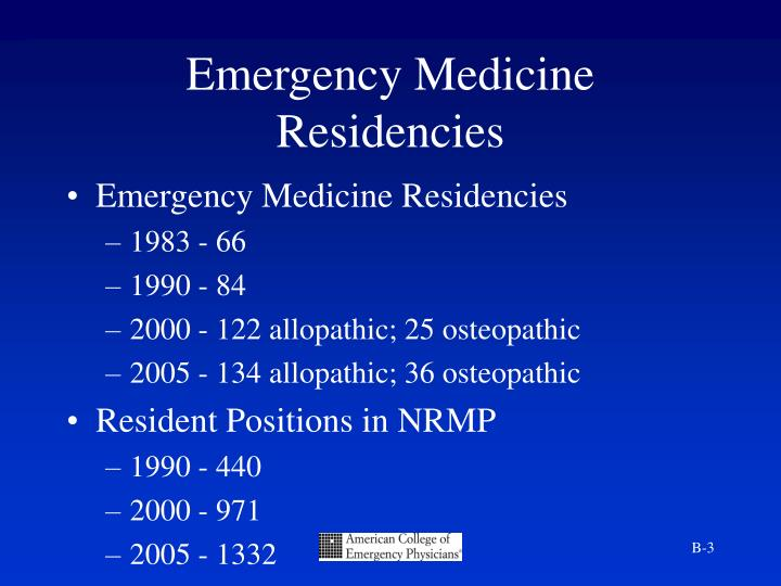 Emergency Medicine Residencies