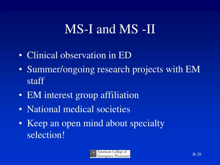 MS-I and MS -II