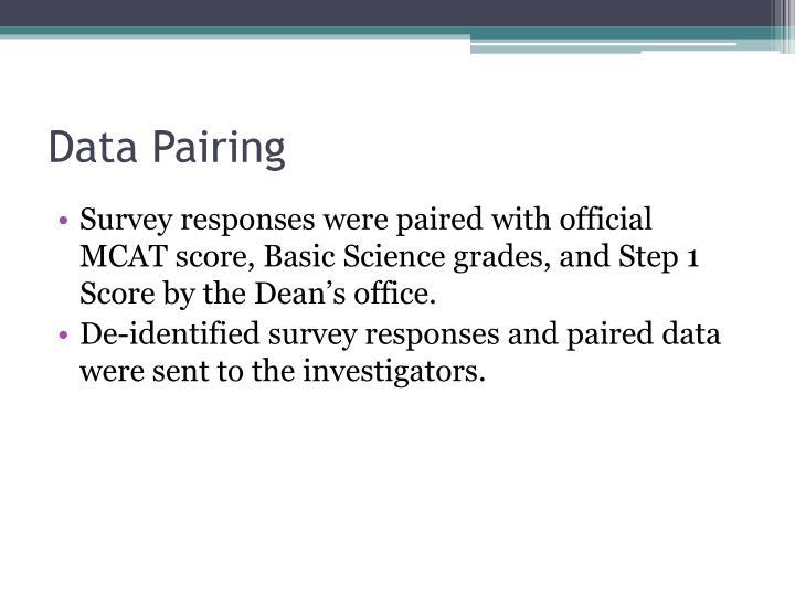 Data Pairing