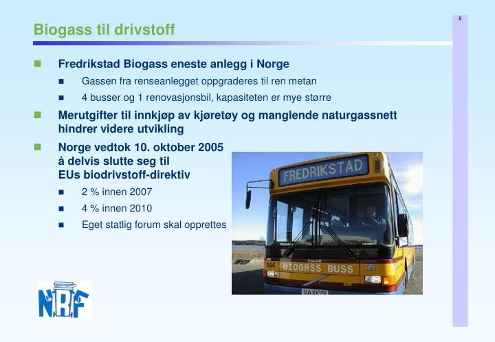 Biogass til drivstoff