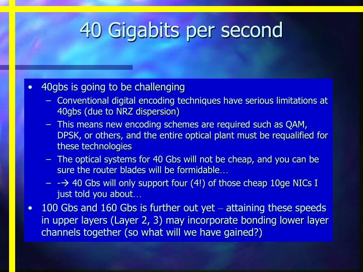 40 Gigabits per second