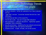 key emerging technology trends for the next few years