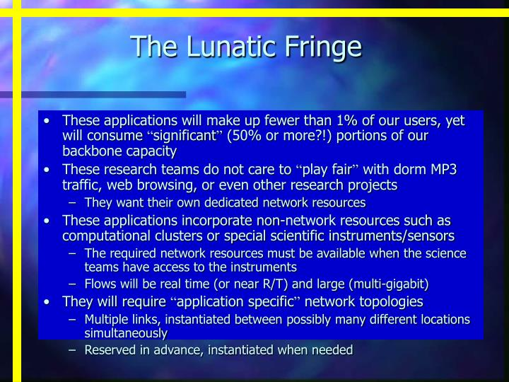 The Lunatic Fringe