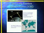 very long baseline interferometry vlbi