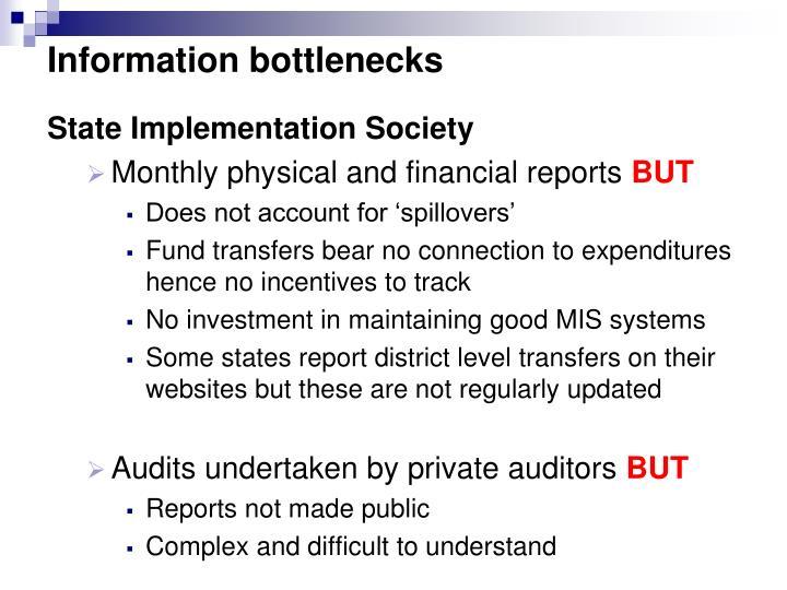 Information bottlenecks