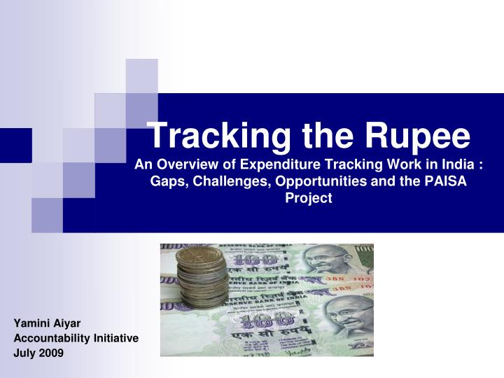 Tracking the Rupee