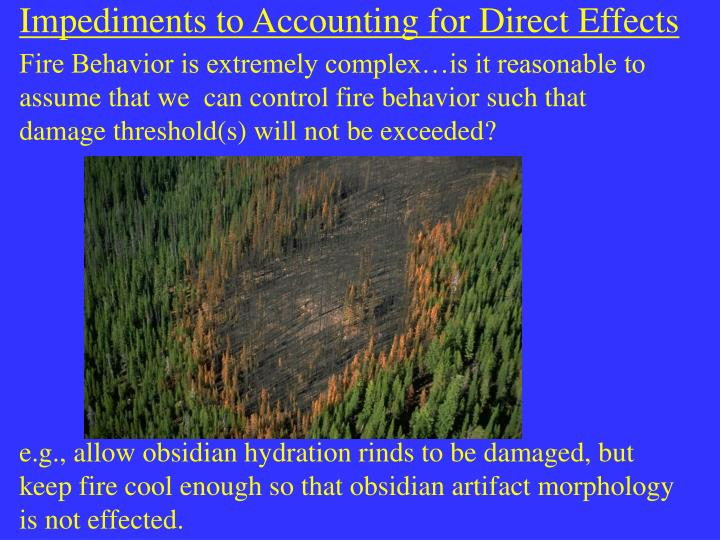Impediments to Accounting for Direct Effects