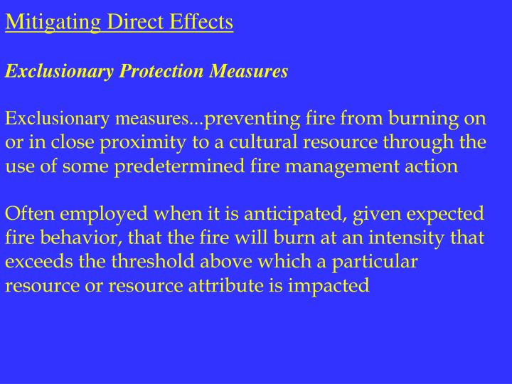 Mitigating Direct Effects