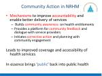 community action in nrhm