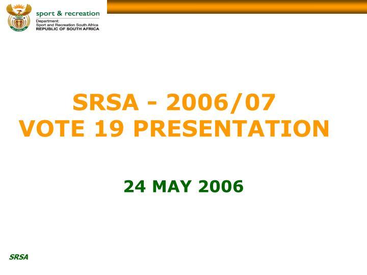 SRSA - 2006/07