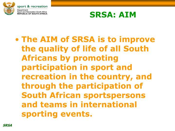 SRSA: AIM