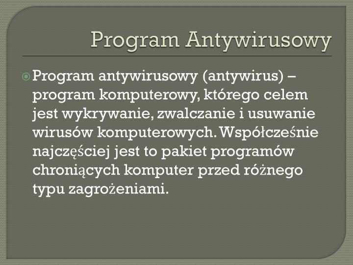 Program Antywirusowy
