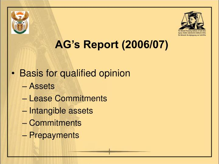AG's Report (2006/07)
