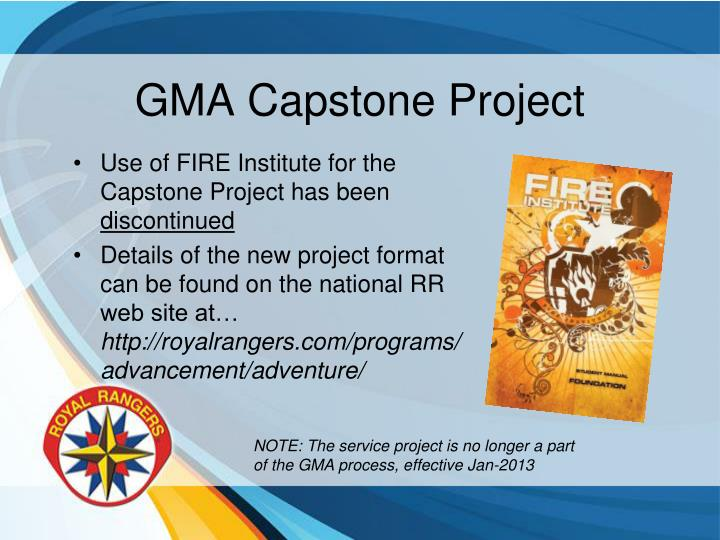 GMA Capstone Project
