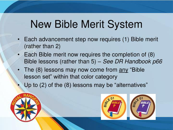 New Bible Merit System