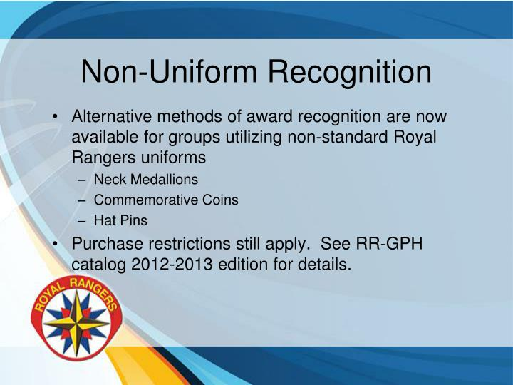Non-Uniform Recognition