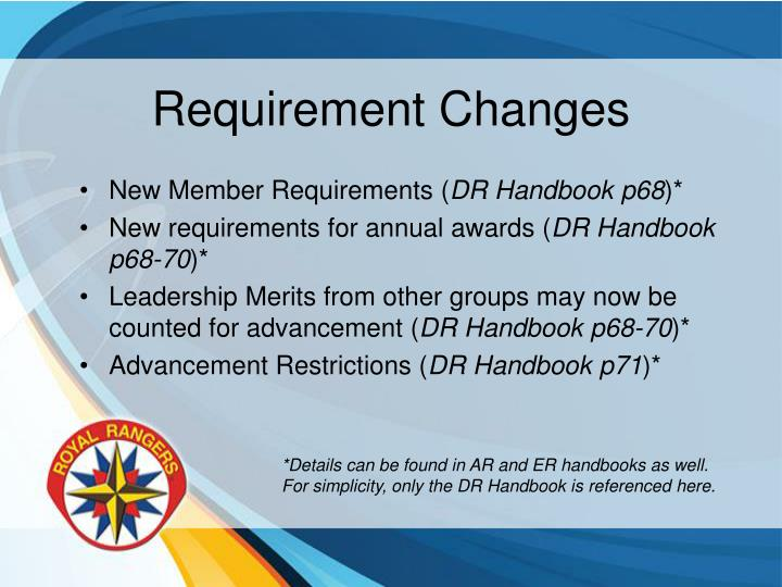 Requirement Changes