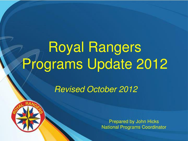 Royal rangers programs update 2012