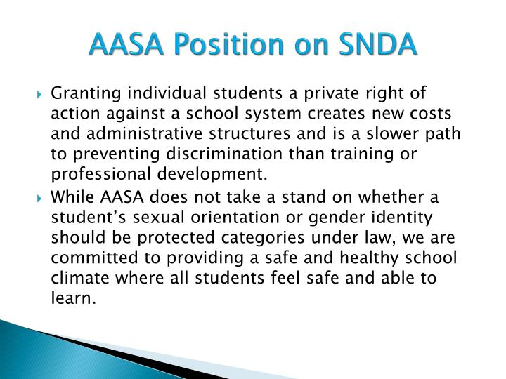 AASA Position on SNDA