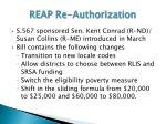 reap re authorization