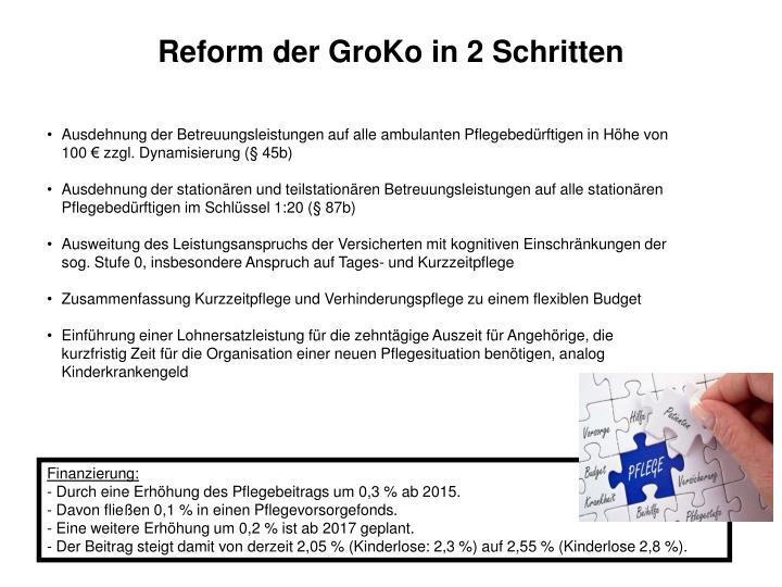 Reform der GroKo in 2 Schritten