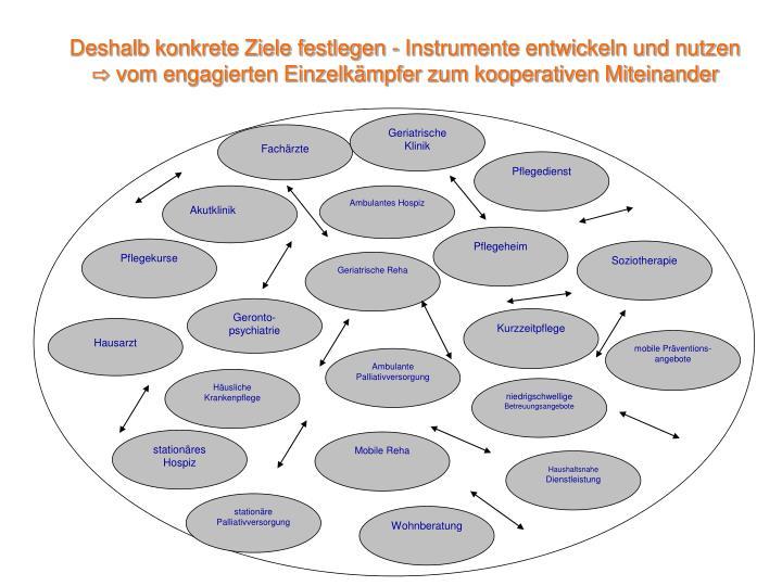 Deshalb konkrete Ziele festlegen - Instrumente entwickeln und nutzen