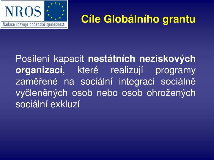 Cíle Globálního grantu