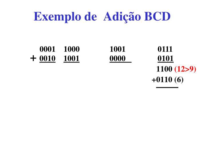 Exemplo de  Adição BCD