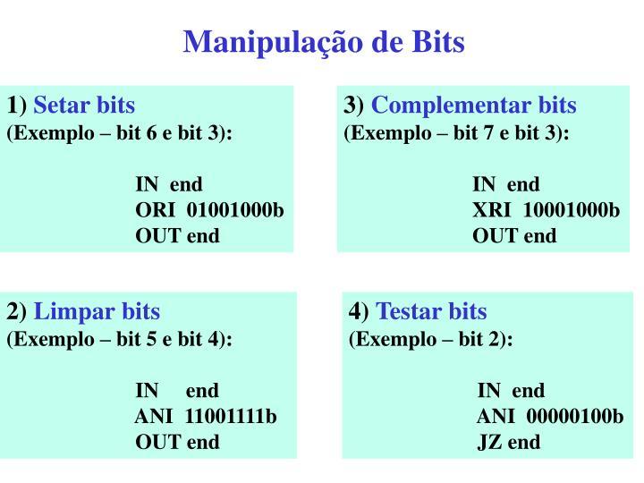 Manipulação de Bits