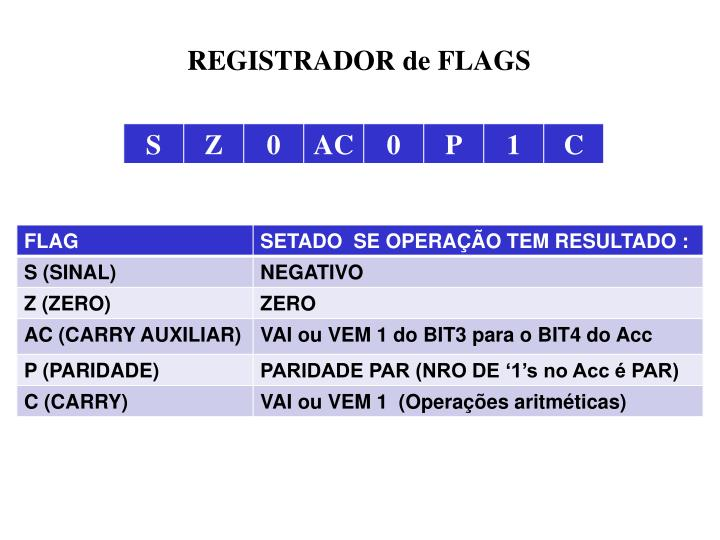 REGISTRADOR de FLAGS
