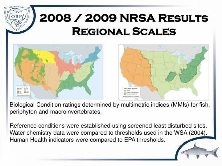 2008 / 2009 NRSA Results