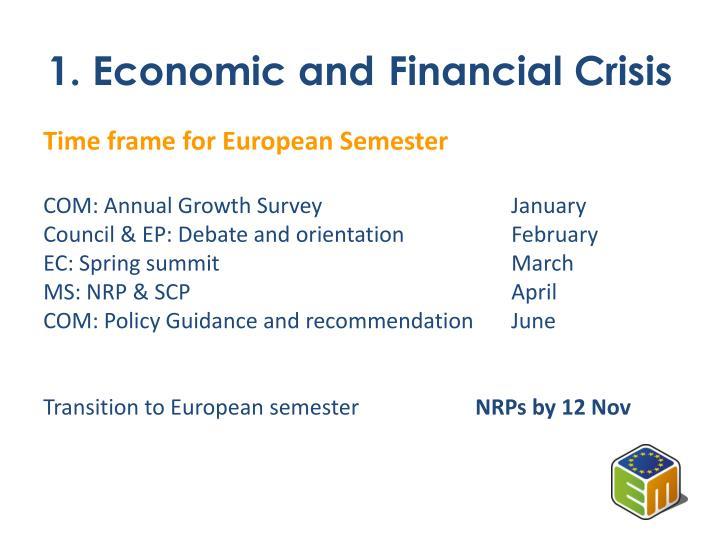 1. Economic and