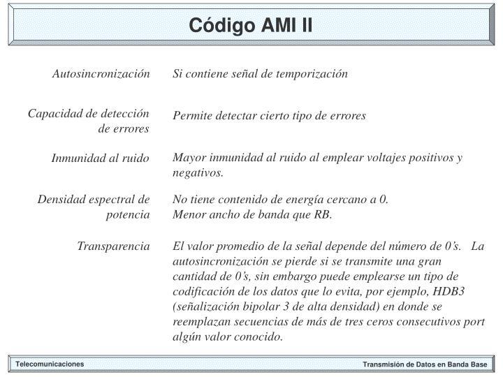 Código AMI II