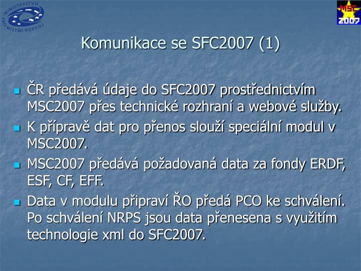 Komunikace se SFC2007 (1)