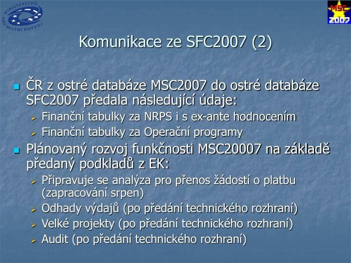Komunikace ze SFC2007 (2)
