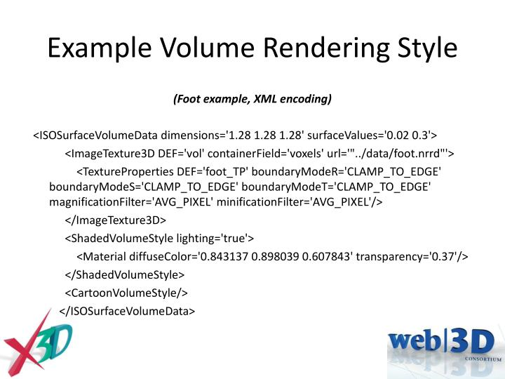 Example Volume Rendering Style