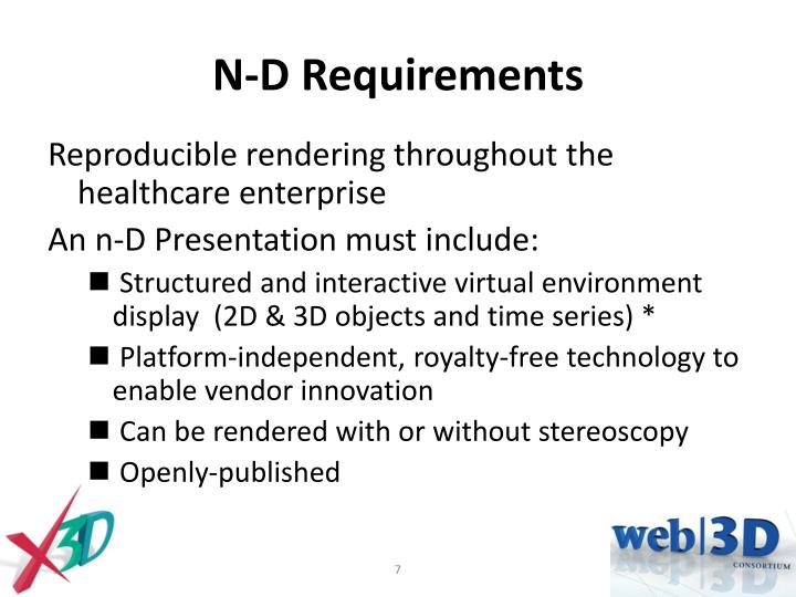 N-D Requirements
