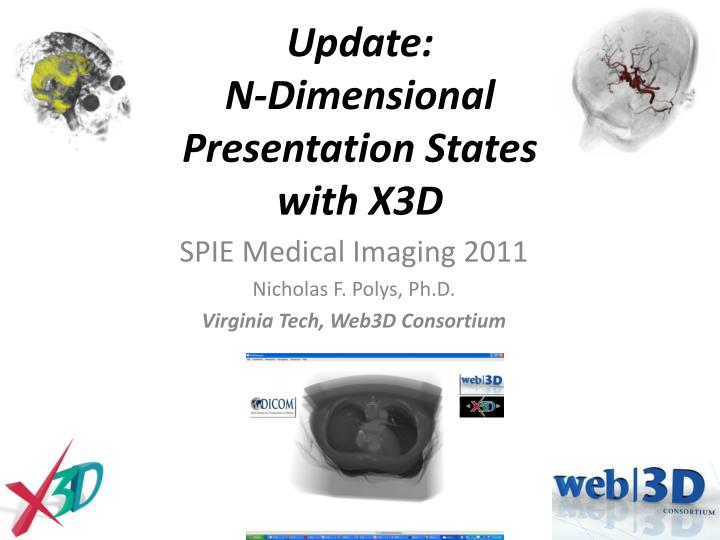 update n dimensional presentation states with x3d